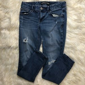 EXPRESS Low Rise Distressed Jeans